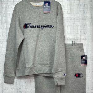 🔥New XL Set Champion Gray Sweatpants/Sweatpants